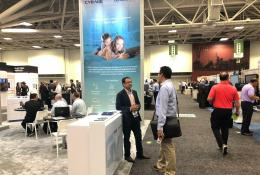 Chirag Bindal in a conversation with a visitor at HITEC 2019 conference